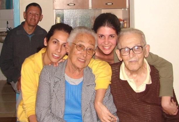 Tio Toninho, Patti, Vó, Lu, Vô - janeiro 2007